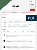 Cronograma del II Festival Internacional de Poesía de Lima