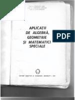 Dragusin Radu Aplicatii de Algebra, Geometrie Si Matematic Speciale 1991