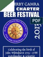 Derby CAMRA Summer Beer Festival 2013 List