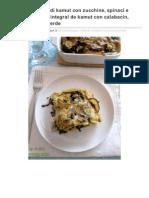 La Nuez Moscada - Ricette vegan - Recetas veganas_ Lasagne integrali di kamut con zucchine, spinaci e fagiolini - Lasaña integral de kamut con calabacín, espinaca y judía verde