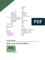 Generator Solar