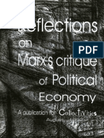 Reflections on Marx's Critique of Political Economy