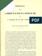 Memoria Sobre La Formacion de Las Rocas en La Provincia de Cadiz