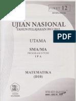 Pembahasan Soal Prediksi Un Matematika Sma Program Ipa 2012 Paket 12
