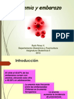Anemia y Embarazo 2013