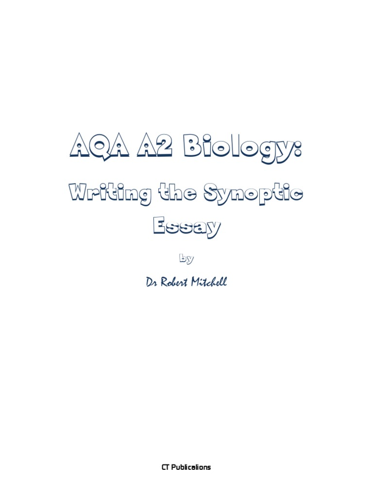 Aqa biology unit 5 essay help