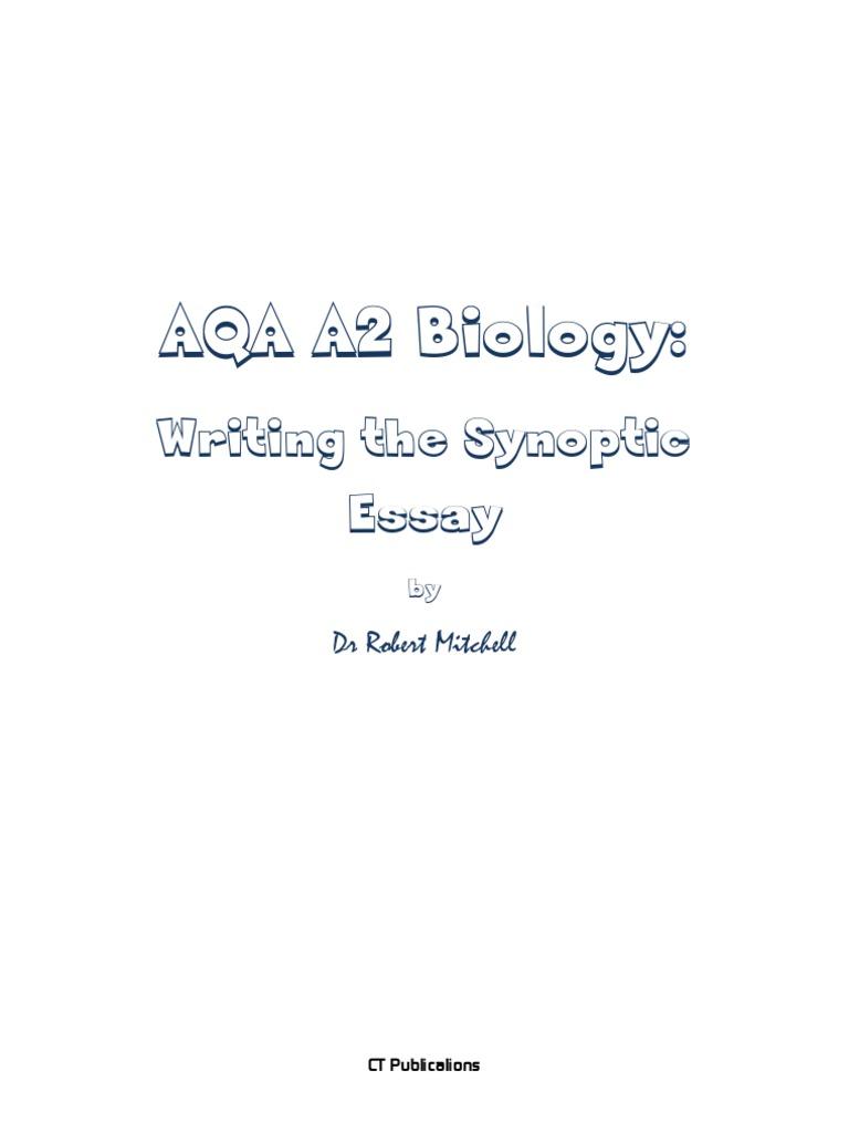 AQA A2 Biology 20 Sample Synoptic Essays[1] | Adenosine Triphosphate ...