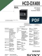 Sony Hcd-dx400 Ver-1.0 Sm