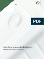 Nachhaltigkeitsbericht 2011/2012. Wir. Unternehmen. Nachhaltigkeit. Duales System Deutschland