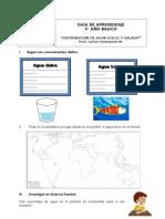 3a Guía de aprendizaje Distribucion de agua dulce y salada
