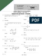 2da Practica de Algebra Verano UNI