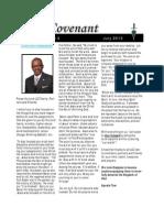 Covenant Newsletter-July 2013