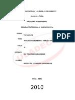 36391261 Nivelacion Geometrica Simple o Diferencial Jhon Carlos Mogollon Valladolid