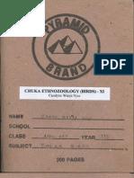 Chuka Ethnozoology (Birds) - XI