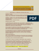Lecturas 1a de Julio de 2013