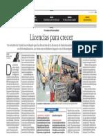 Licencias para crecer - Lorena Alcázar/Miguel Jaramillo - El Comercio - 290613