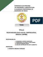Responsabilidad Social en La Mineria Chimo