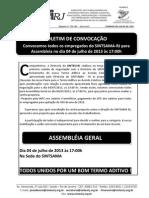 BOLETIM APRECIAÇÃO DE CONTRA-PROPOSTA TERMO ADITIVO ACT 2012 2014 SINTSAMA RJ