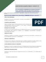 Los criterios para la evaluación final de los proyectos