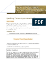 Speaking Partner Appointment