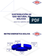 DISTRIBUCIÓN DE GAS NATURAL EN BOLIVIA  GLP