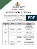 Bonus Energia Elettrica 2013