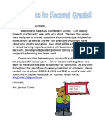 welcome letter revised712013