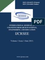 IJCRSEE Volume 1 Issue 1
