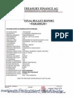 Paradigm Document From the Treasury Finance Ag Industriestrasse 21 Ch 6055alpnach Dorf Switzerland