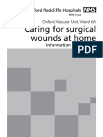Caring for Surgical Wounds at Home - Information for Patients