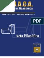 Acta Filossfica