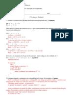 gabarito prova introdução programação linguagem C