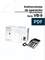 Instrucciones de Operacion Vb-9