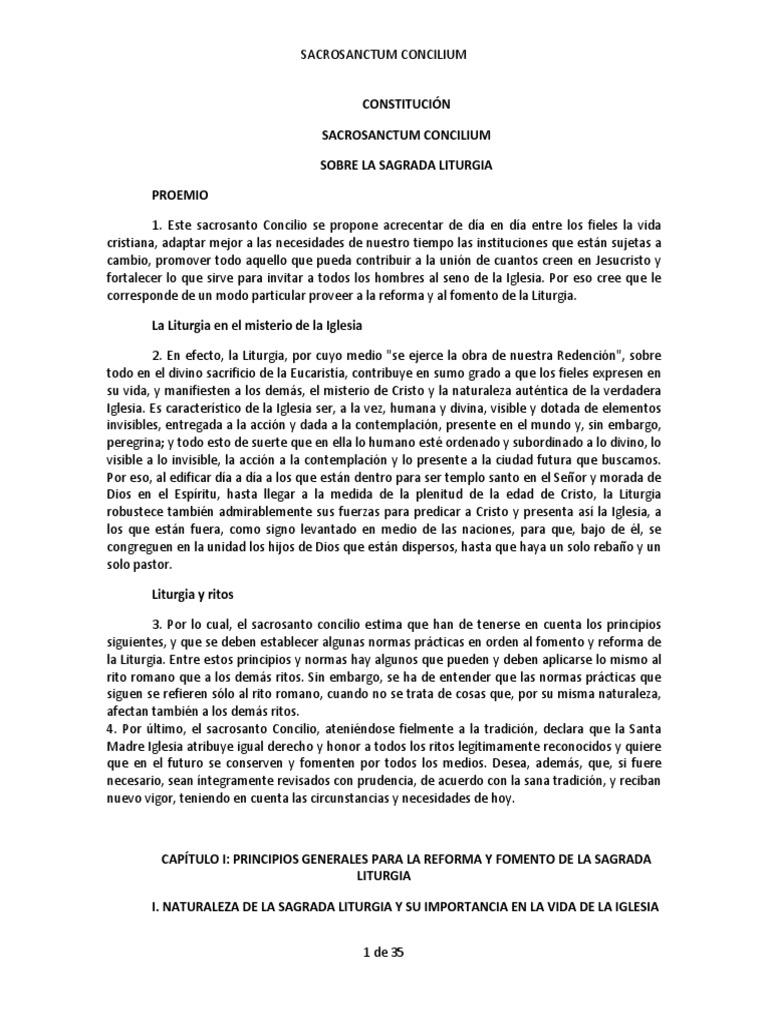 sacrosanctum concilium pdf en español