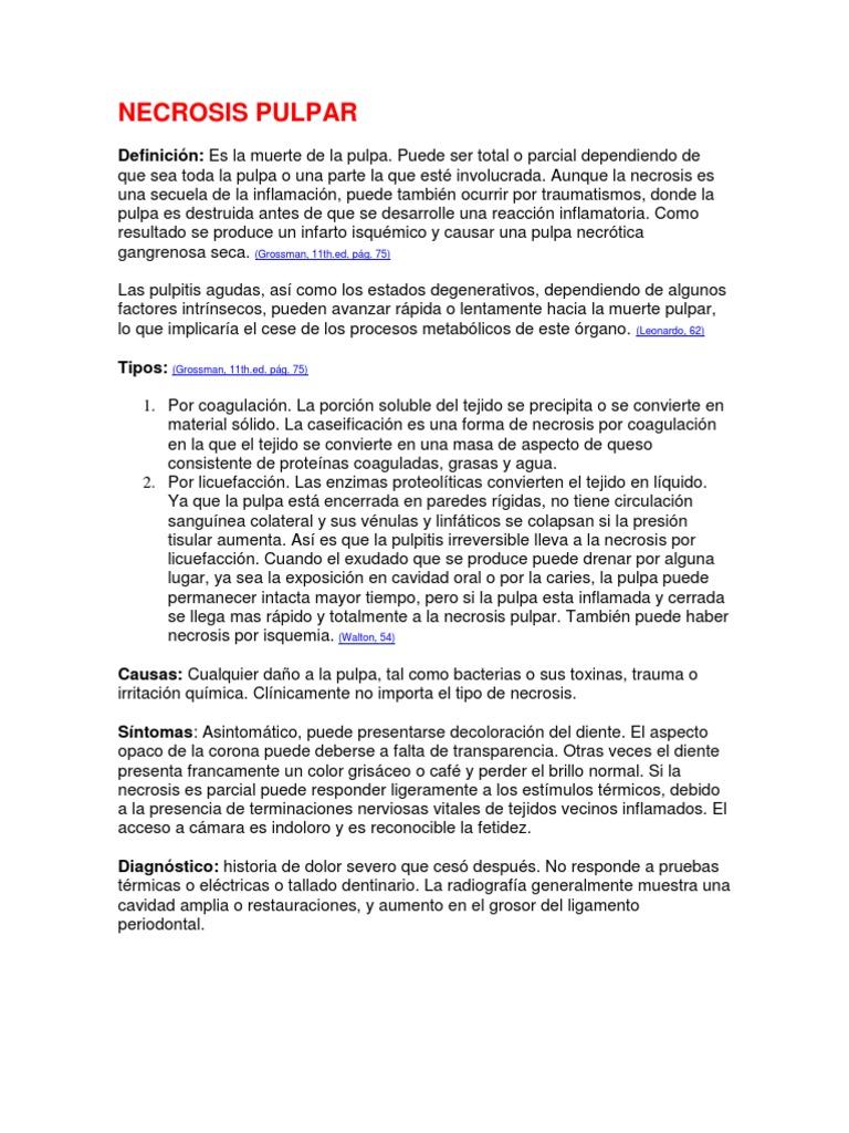 Necrosis Pulpar | Especialidades médicas | Medicina