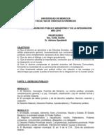 Derecho Publico y de La Integracion 2010