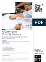 A Career as a Quantity Surveyor
