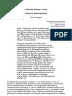 Scott Sprenger - Balzac as Anthropologist (Anthropoetics Vol 6, n 1 Spring-Summer 2000)