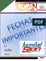 Boletín Juventud Sión 01 de Julio de 2013.