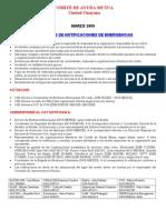 Protocolo Notificaciones Emergencias Cam Marzo 2009