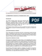 LA DISRUPCION causas violencia en el aula.pdf