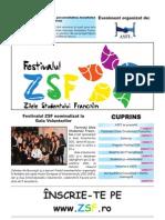 Prima pagina din ziarul ZSF