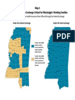 Map of Mississippi Counties left out of Federal Exchange
