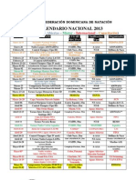 Calendario Nacional Fedona 2013 Modificado.