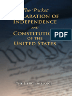 Pocket Declaration of Independence and Constitution of US