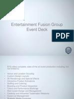 EFG Events Deck