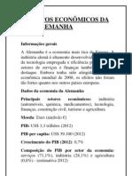 ASPECTOS ECONÔMICOS DA ALEMANHA
