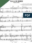 Agua de Beber  Jobim Jazz Piano Score