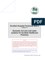 SHTN 2 Domestic Hot and Cold Water Systems for Scottish Healthcare Premises