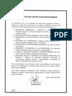 Política del Sistema de Gestión Integrado 2012